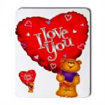I Love You Teddy Mouse Mat